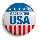 Gemacht im USA-Amerikaner-Knopf lizenzfreie abbildung
