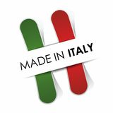 Gemacht in Italien-Flagge Lizenzfreies Stockbild