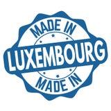 Gemacht in Luxemburg-Zeichen oder -stempel stock abbildung