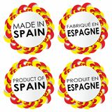Gemacht in Spanien-Ausweisen Stockbild