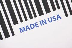 Gemacht in USA-Barcode Stockfoto