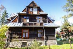 Gemacht vom hölzernen Landhaus Orlica in Zakopane Stockbilder