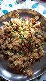 Gemachter gebratener Reis des Eies nach einer langen Zeit Stockbilder