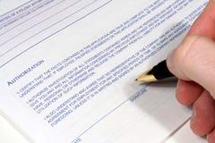 Gemachtigde Handtekening Royalty-vrije Stock Afbeeldingen