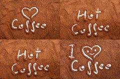 Gemahlener Kaffee Browns - eine Collage der unterschiedlichen Form gemacht im Kaffee Lizenzfreie Stockfotos