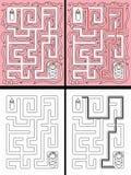 Gemakkelijk babylabyrint vector illustratie