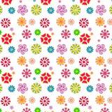 Gemakkelijk en pretpatroon van bloemen Stock Foto's