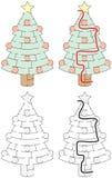 Gemakkelijk Kerstboomlabyrint vector illustratie