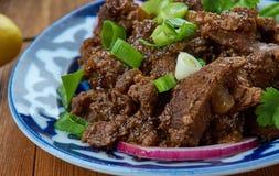 Gemakkelijk Knapperig Mongools Rundvlees royalty-vrije stock foto