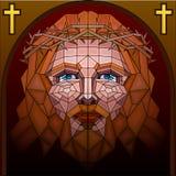 Het Schilderen van het gebrandschilderd glas van Jesus-Christus Royalty-vrije Stock Foto