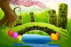 De Achtergrond van Pasen Stock Afbeeldingen