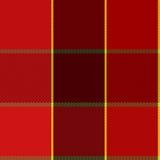 Gemakkelijk Rood Geruit de Plaid Vectorpatroon van Editable Royalty-vrije Stock Foto