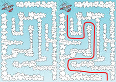 Gemakkelijk vliegtuiglabyrint stock illustratie
