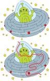 Gemakkelijk vreemd labyrint stock illustratie