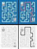 Gemakkelijk zeilbootlabyrint royalty-vrije illustratie