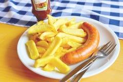 Gemakkelijke lunch in Duitsland Stock Foto