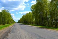 Gemalen asfalt op de weg stock fotografie