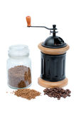 Gemalen koffie Stock Foto