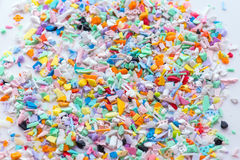 Gemalen plastic delen royalty-vrije stock afbeelding