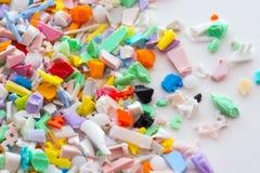Gemalen plastic delen stock fotografie