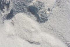 Gemalen wit zout stock foto's
