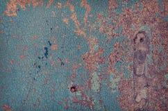 Gemalte alte hölzerne Wand Stockbilder