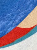 Gemalte alte Wandbeschaffenheit passend als Hintergrund Stockfotografie