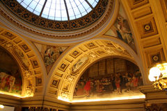 Gemalte Bögen des Nationalmuseums Stockbild