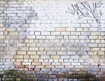 Gemalte Backsteinmauer Stockbild