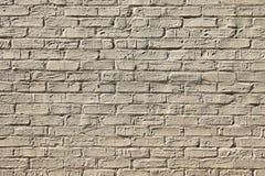 Gemalte Backsteinmauer Stockfotografie