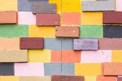 Gemalte Backsteinmauer/Hintergrund lizenzfreie stockbilder