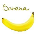 Gemalte Banane Lizenzfreies Stockfoto