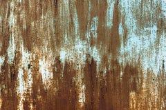Gemalte Beschaffenheit des Schmutzes Metall Alte gemalte Metalloberfläche mit Rost Stockbild