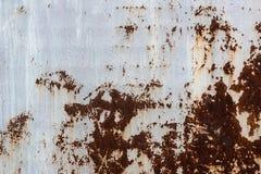Gemalte Beschaffenheit des Schmutzes Metall Alte gemalte Metalloberfläche mit Rost und nassem Fleck Stockbilder