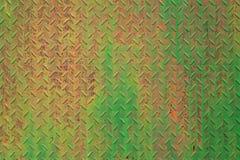 Gemalte Beschaffenheit des Schmutzes Metall Alte gemalte Metalloberfläche mit Rost und nassem Fleck Lizenzfreie Stockbilder