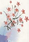 Gemalte Blumen vektor abbildung