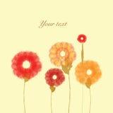 Gemalte Blumen auf Hintergrund Stockfotos