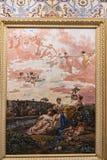 Gemalte Decke am Achilleions-Palast auf der Insel von Korfu Griechenland errichtet von der Kaiserin Elizabeth von Österreich Siss Stockbilder