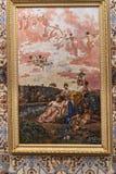 Gemalte Decke am Achillieon-Palast auf der Insel von Korfu Griechenland errichtet von der Kaiserin Elizabeth von Österreich Sissi Lizenzfreie Stockfotografie