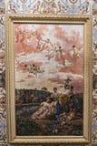 Gemalte Decke im Achilleions-Palast auf der Insel von Korfu Griechenland errichtet von der Kaiserin Elizabeth von Österreich Siss Stockbilder