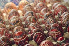Gemalte dekorative Ostereier Stockbild