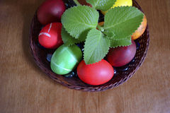 Gemalte Eier Stockfoto