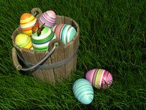 Gemalte Eier bei Ostern Stockfotografie