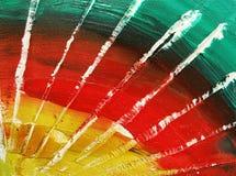Gemalte Farben stockfoto
