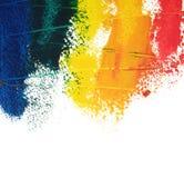 Gemalte Farben Stockbild