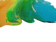 Gemalte Farben lizenzfreie abbildung