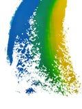 Gemalte Farben stock abbildung