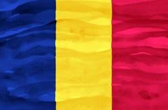 Gemalte Flagge von Tschad lizenzfreies stockfoto