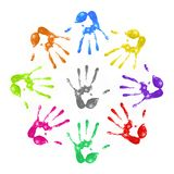 Gemalte handprints stock abbildung