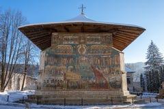Gemalte Kirche in Rumänien Lizenzfreies Stockfoto